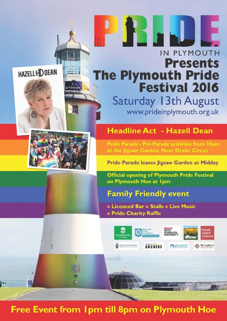 Plymouth Pride 2016 poster