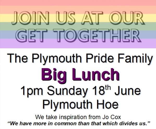 Plymouth Pride Family Big Lunch 2017