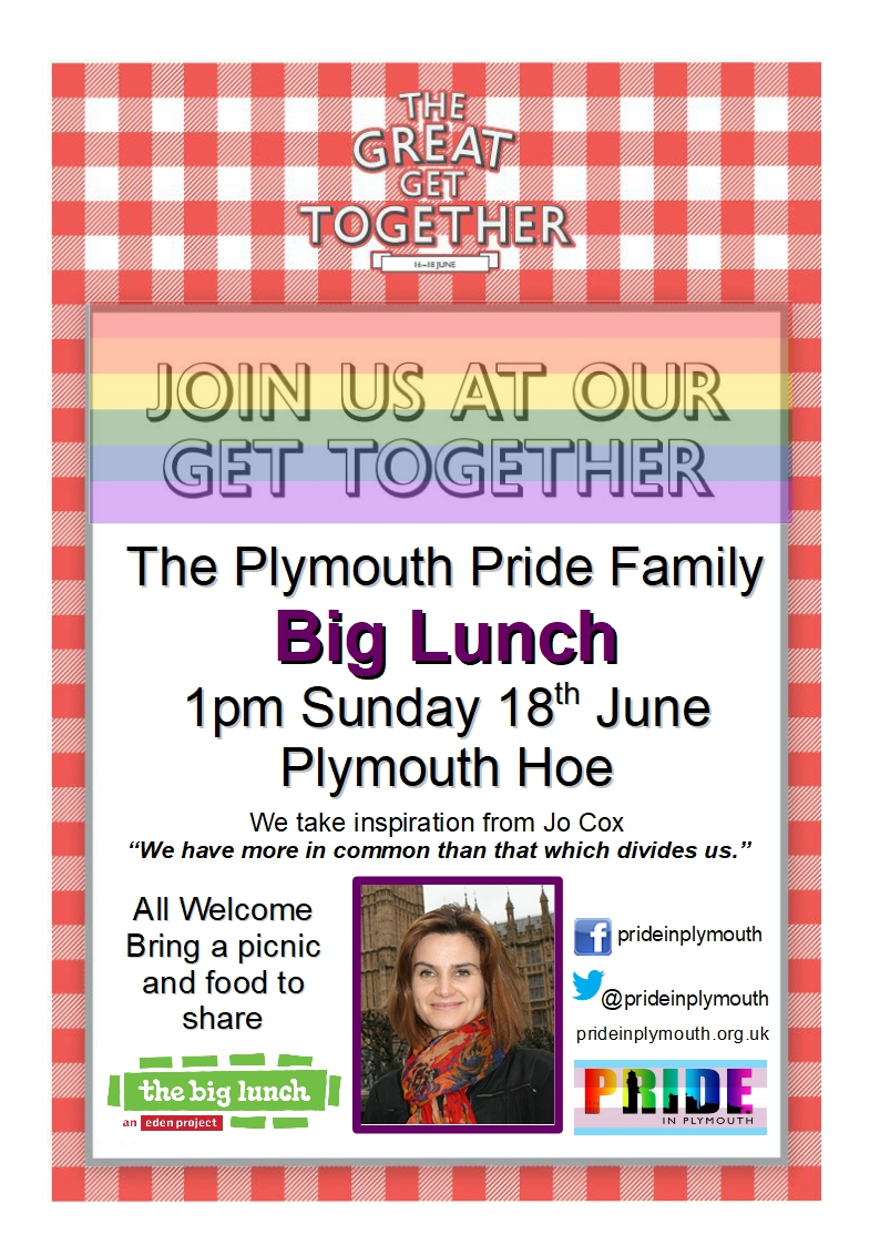 Plymouth LGBT Big Lunch 18th Jun 2017
