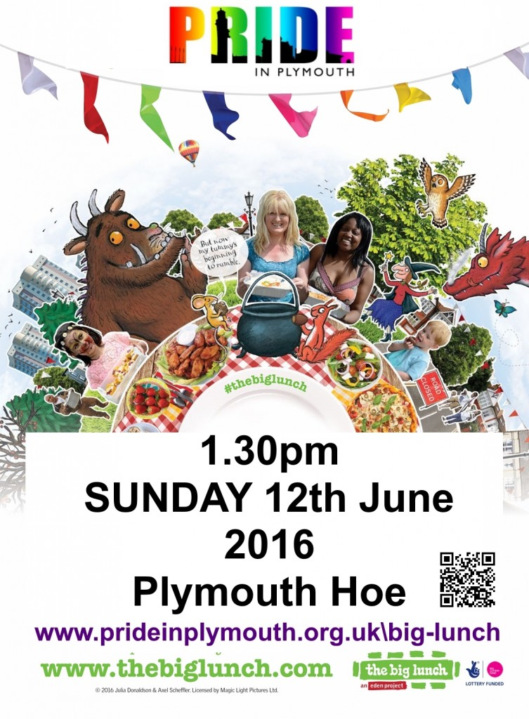 Plymouth Pride Big Lunch Poster 2016