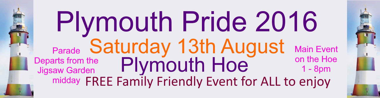 Plymouth Gay Pride - Sat 13th August 2016