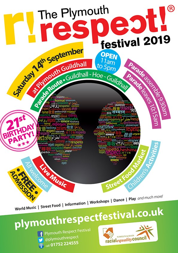 Plymouth Respect Festival Saturday 14th September 2019