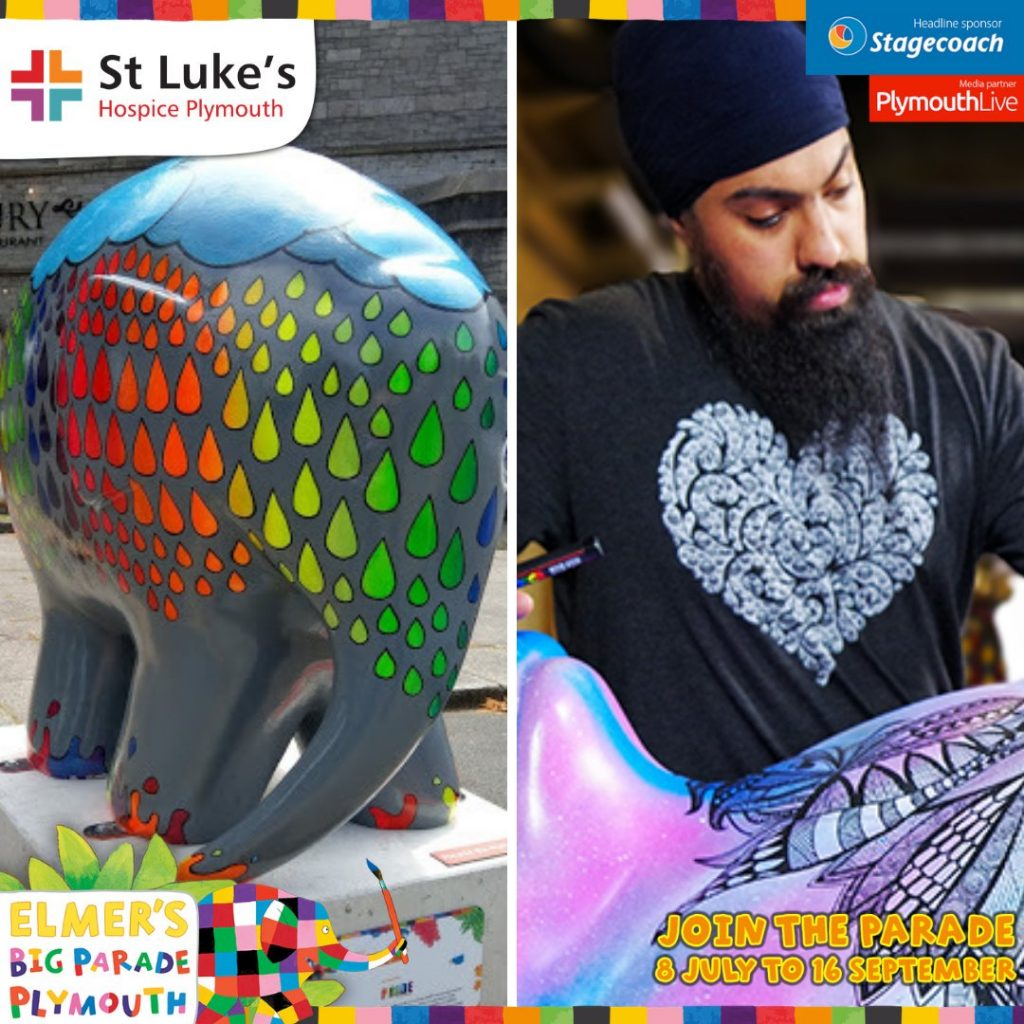 Pride Elmer True Colours with artist Amrit Singh